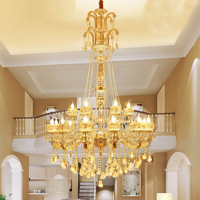 Led gold jade luminaria pendente antique style chandelier villa led gold jade luminaria pendente antique style chandelier villa large chandeliers hotel lobby stair candle lamp aloadofball Choice Image