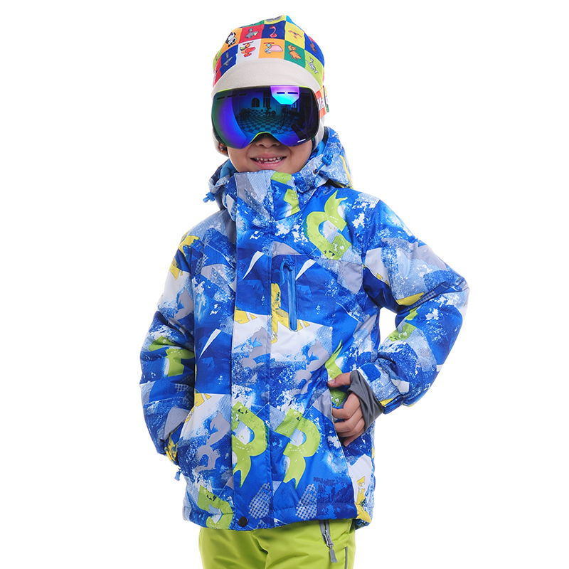 ФОТО Children Snowboarding Ski Outdoor Skiing Jaclets Boy Girl Thick Clothes Warm Coat Windproof Waterproof Jacket Kids CJ17
