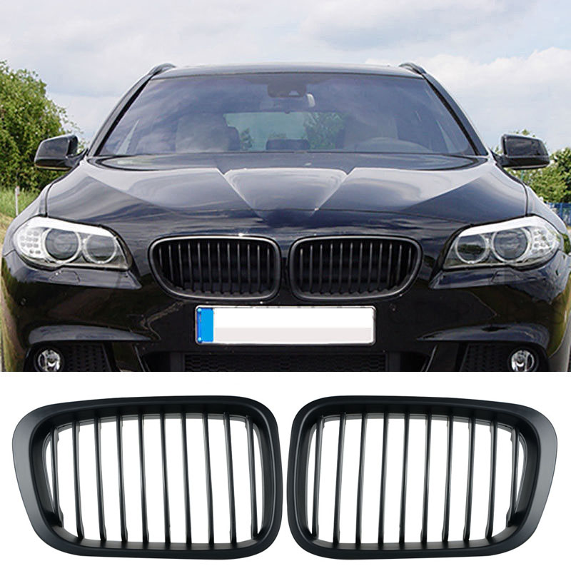 Car Racing Grills Matte Black Grille Fit For BMW 3 Series