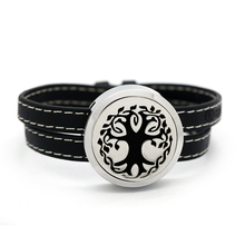 Bofee Tree Of Life Aromatherapy Diffuser Locket Leather Bracelet Essential Oil Screw Top  Stainless Steel Jewelry GIft 30mm advu 50 20 a p a 156638 germany festo cylinders
