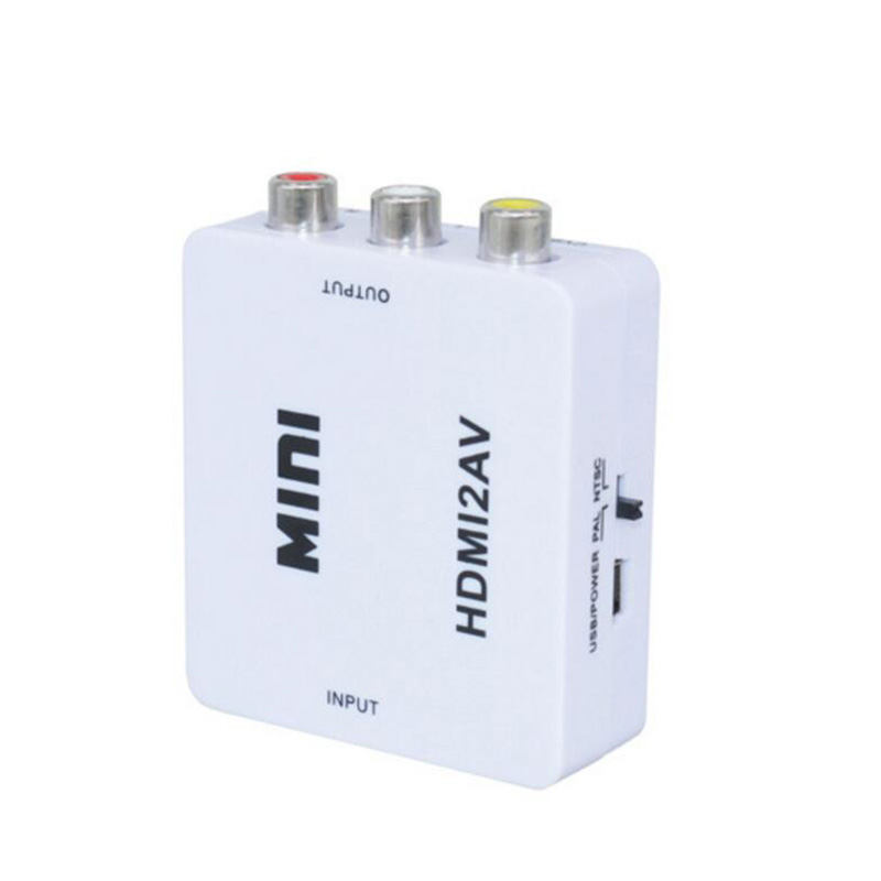 AOSANG HDMI TO AV Scaler Adapter HD Video Converter Box HDMI to RCA AV CVSB L R Video 1080P HDMI2AV Support NTSC PAL Wholesale