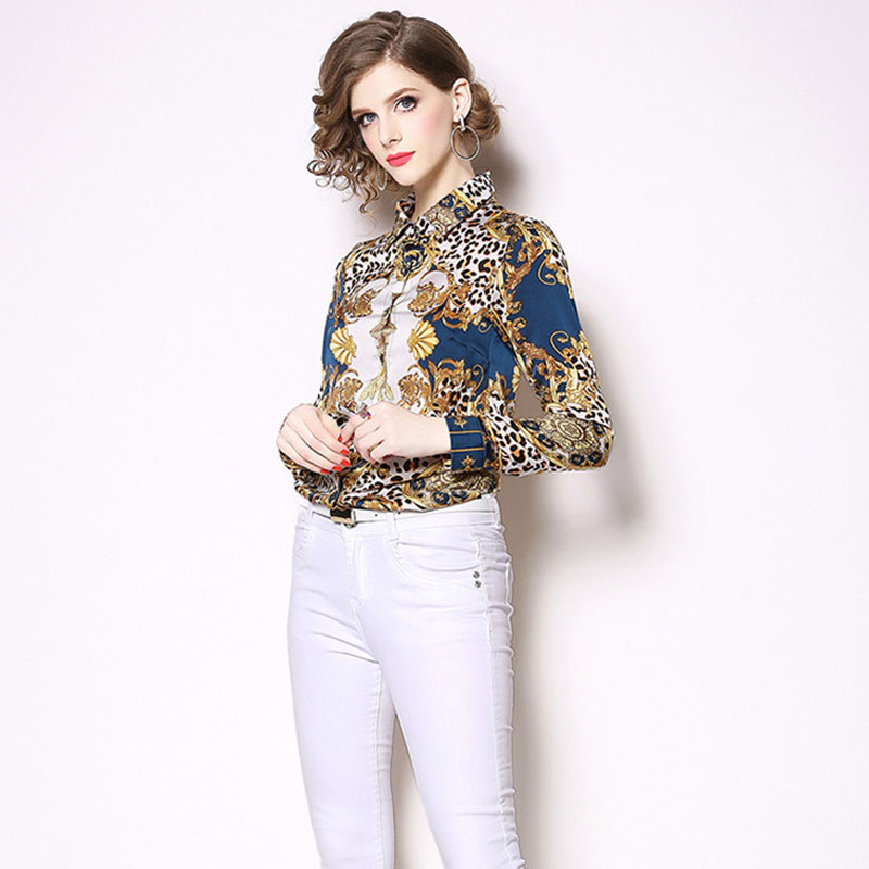 New Fashion 2019 Spring Women Blouses Long Sleeve Elegant Leopard Print Office Shirt Sexy Casual Blusas Femininas Womens Tops 2
