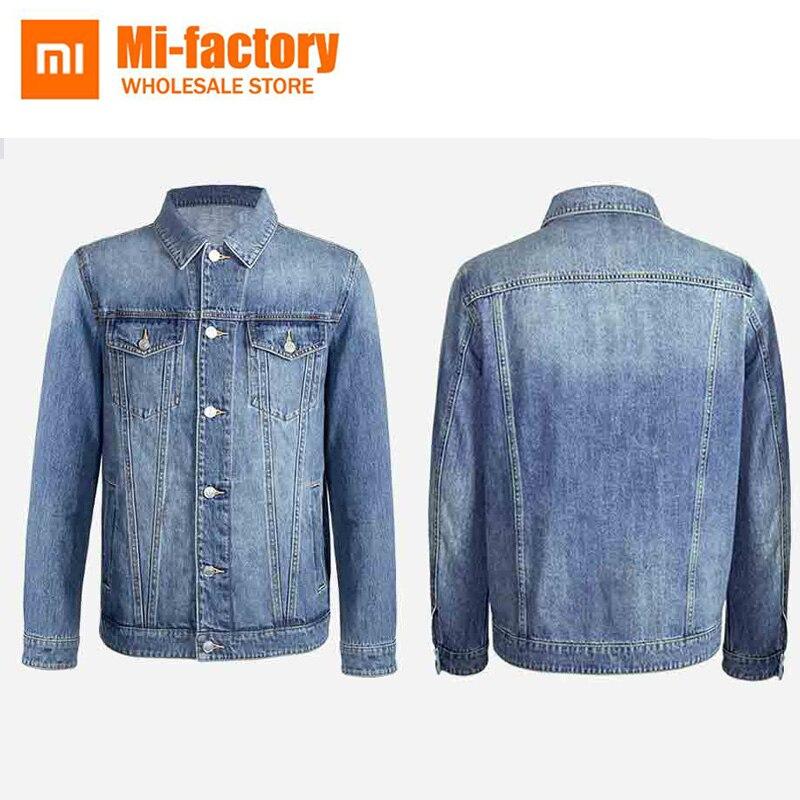Nouveau Xiaomi Mija Bomber veste hommes 100% coton décontracté Fit veste automne hommes Simple Denim veste de mode marque hommes manteau