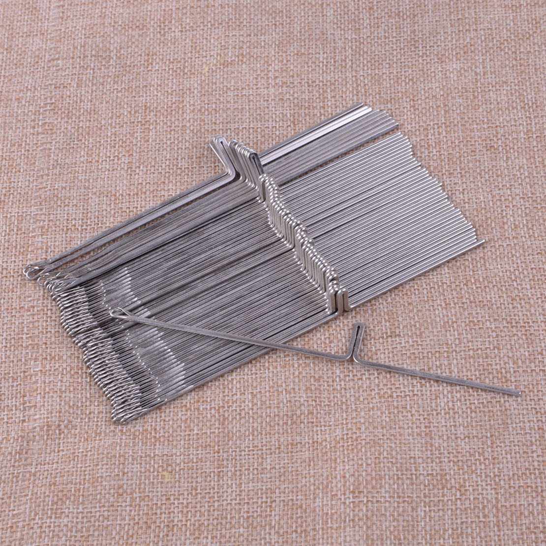 New 50pcs Knitting Machine Needles Fit For Silver Reed Studio Singer Empisal Knitmaster Ribbing Attachment SRP50 SRP60 SRP60N