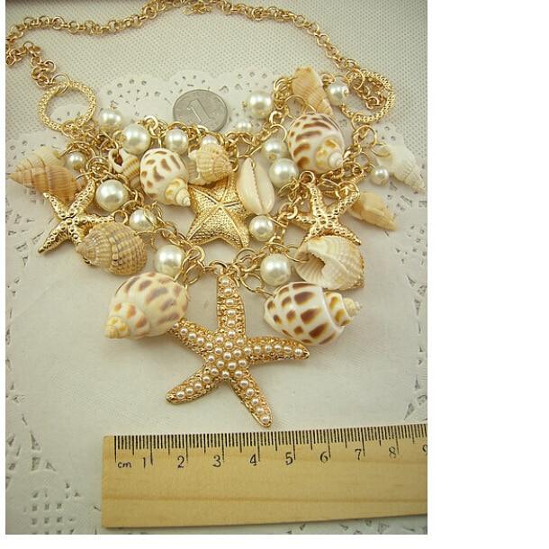Jūrų stiliaus aukso spalva Dideli jūriniai jūrų žvaigždės - Mados papuošalai - Nuotrauka 4