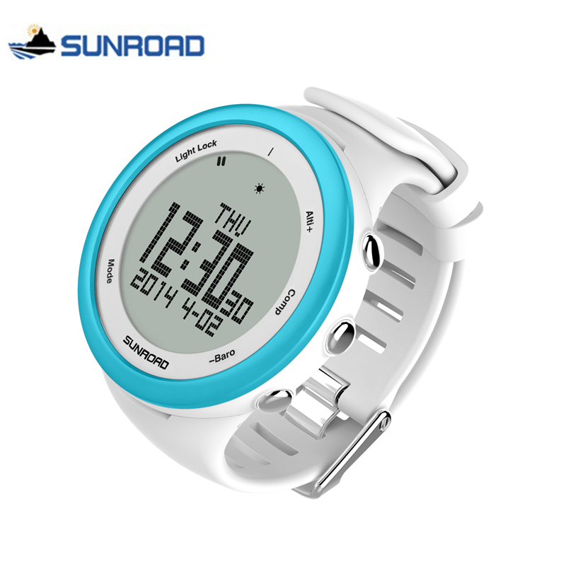 SUNROAD Sport Watch Men Women Waterproof Led Digital Compass Military Chronograph Wrist Watch Clock Men Saat Relogio Masculino splendid brand new boys girls students time clock electronic digital lcd wrist sport watch