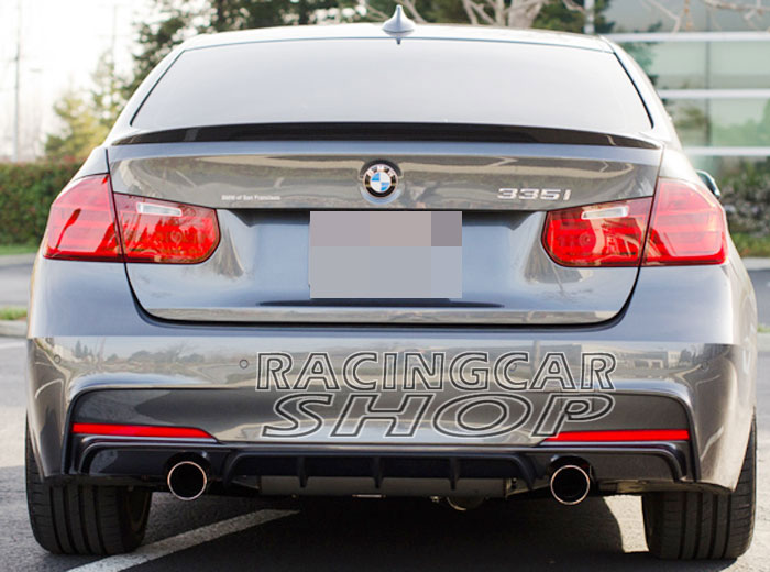 Painted P Style Rear Diffuser For Bmw F30 F31 3 Series 335i M Tech M