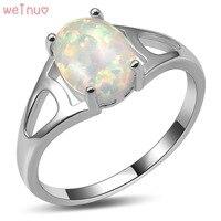 Pierścień Weinuo Biały Ogień Opal 925 Sterling Silver Najwyższa Jakość Fantazyjne biżuteria Ślubna Pierścionek Rozmiar 5 6 7 8 9 10 11 A428