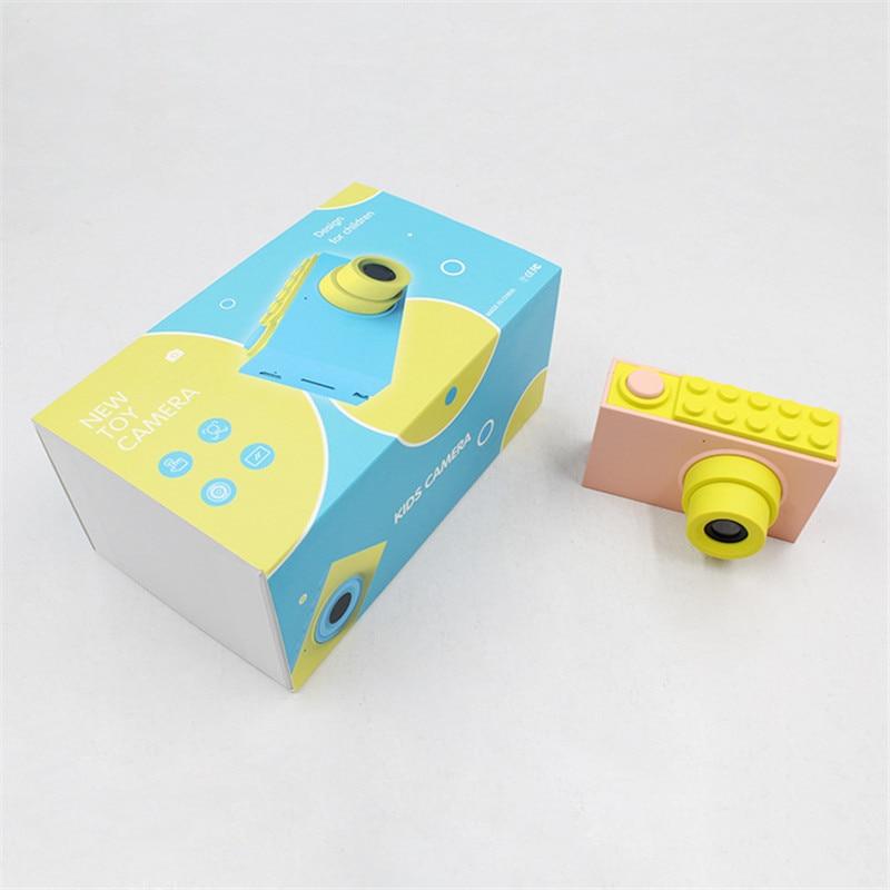 Enfants Mini appareil photo numérique jouets enfants éducation jouet appareil photo numérique avec couverture étanche autocollants faciles à poser cadeau d'anniversaire - 4