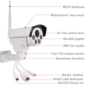 Image 2 - OwlCat Wifi ulicy kamera IP PTZ zewnętrzna Bullet 5X 10X Zoom optyczny 2MP 5MP bezprzewodowy IR noc Onvif karty SD Audio CCTV kamery