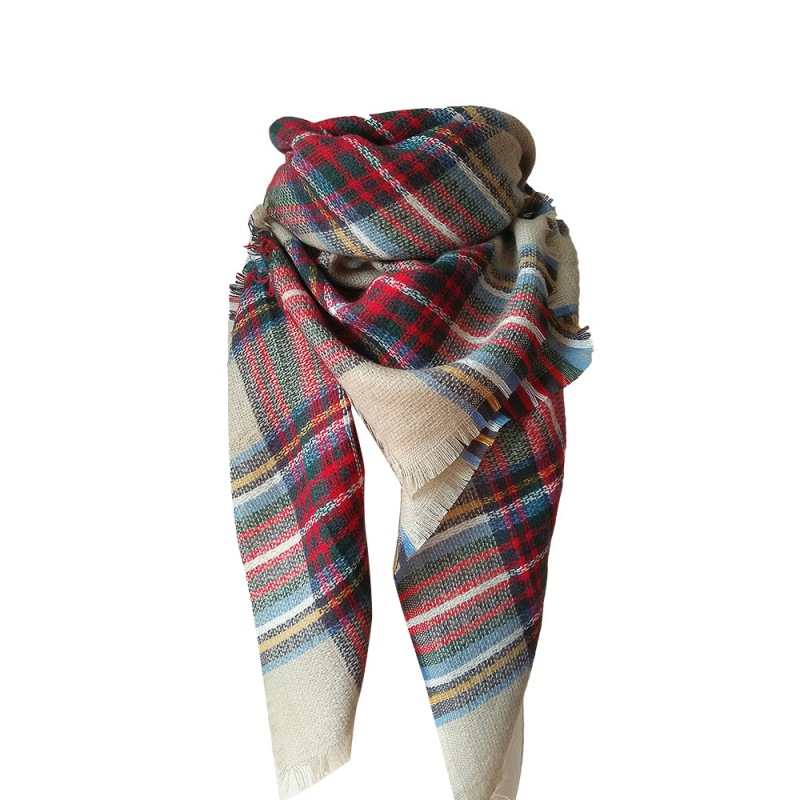 20 Colors Winter Women Cashmere font b Tartan b font Plaid Scarf Men Scarves Boys Girls