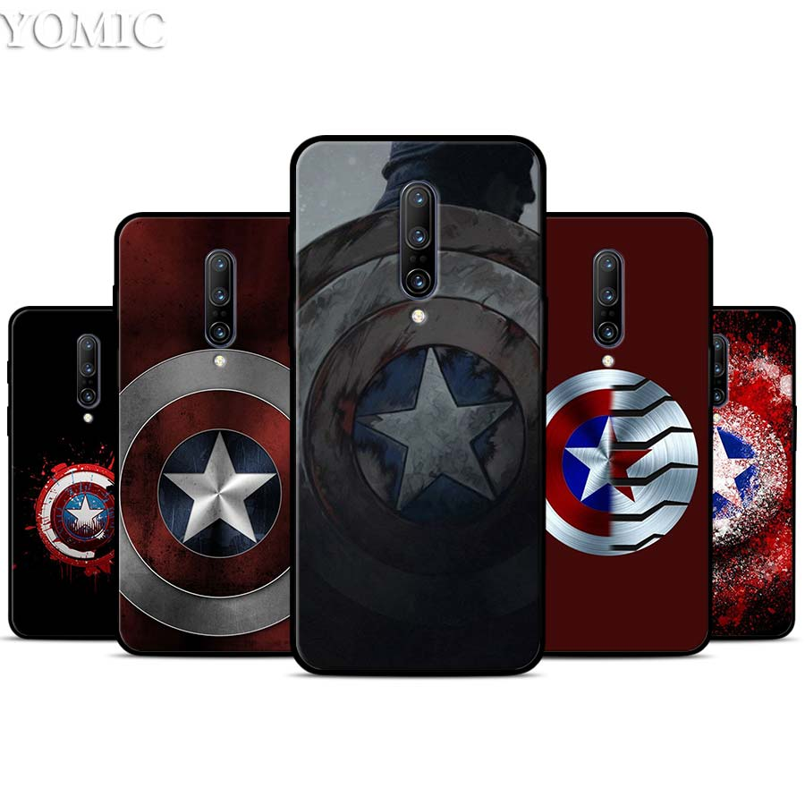 Marvel comic Captain America Silicone Case for font b Oneplus b font font b 7 b