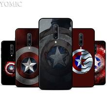 Marvel comic Captain America Silicone Case for Oneplus 7 7Pro 5T 6 6T Black Soft Case for Oneplus 7 7 Pro TPU Phone Cover