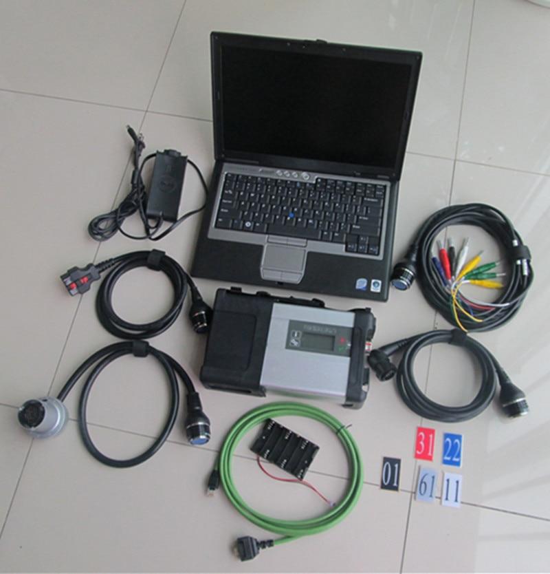 MB Star C5 sd connector met d630 PC SSD installeren nieuwste software klaar om multi taal wifi MB C5 auto diagnostic tool