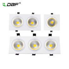 Square Recessed COB Downlight 7W 9W 12W 15W 14W 24W 21W 36W LED Ceiling Lamp AC85-265V Indoor Spot Light With Driver