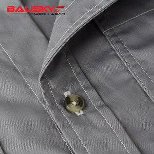 Image 5 - Mannen werkkleding uniform werk shirt korte mouw met zakken voor monteur timmerman