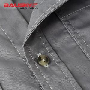 Image 5 - גברים של workwear אחיד עבודת חולצה קצר שרוול עם כיסים עבור מכונאי קרפנטר