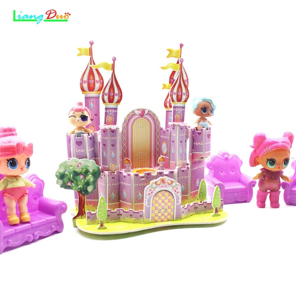 Nieuwe aflevering LOL SPEELGOED Baby Veranderen LoL Action Figure Jigsaw Castle Kids Gift speelgoed voor meisjes сюрпризы lol