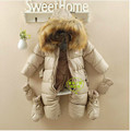 warm PU leather infant Russian winter cotton-padded jacket
