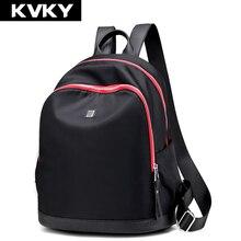 Kvky бренд женские рюкзаки водонепроницаемый нейлон рюкзаки студентка школьная сумка случайные путешествия рюкзак для подростка девушки bolsas
