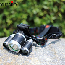 yupard 3*XM-L2 LED headlight T6 LED USB charging Headlamp outdoor lantern high bright Light power bank rechargeable torch