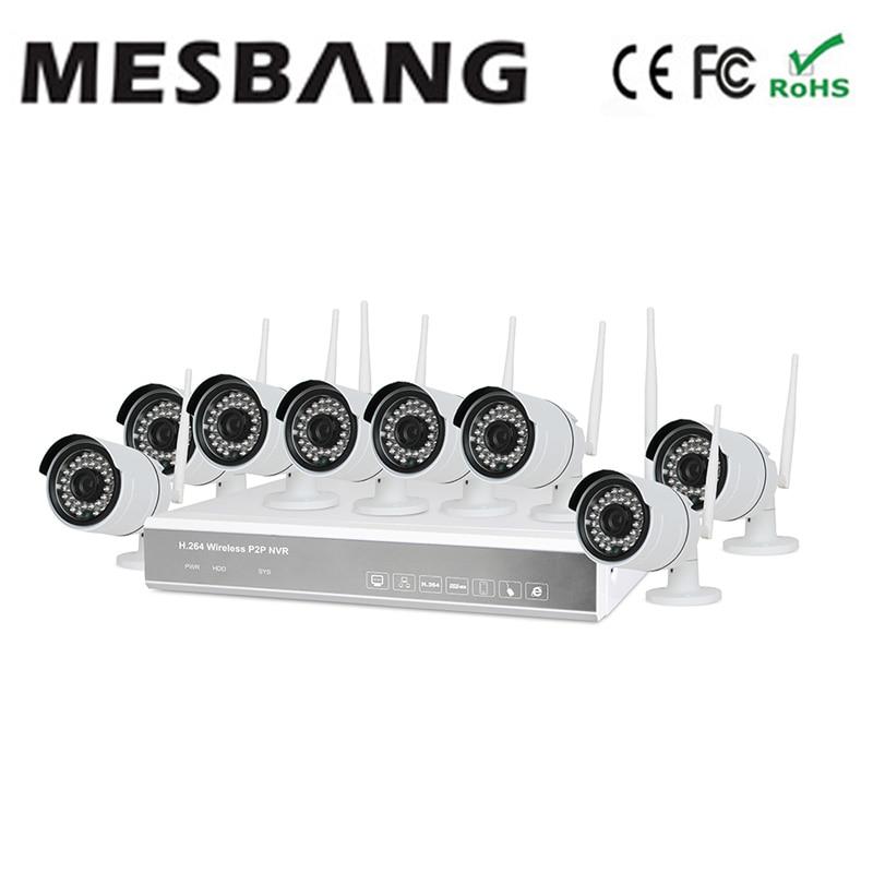 2017 Mesbang 720 P 8ch наружная камера WIFI наборы с 1 ТБ HDD P2P plug and play Бесплатная доставка по FedEx DHL