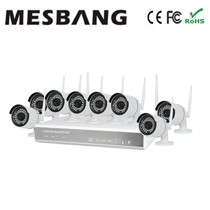 2017 Mesbang 720P 8ch wifi outdoor camera kits with 1TB HDD P2P plug and play  free shipping by Fedex DHL