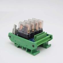 цена на 4-way 10-pin relay module, single 24V electromagnetic isolation relay module