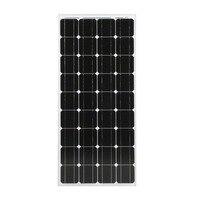 Монокристаллический 100 Вт Солнечные энергетические установки модуля Панели солнечные 12 В Батарея зарядки для выключения сетки на колесах л