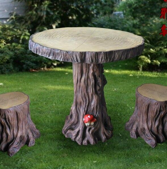 mushroom garden park restaurant patio tables and chairs inside