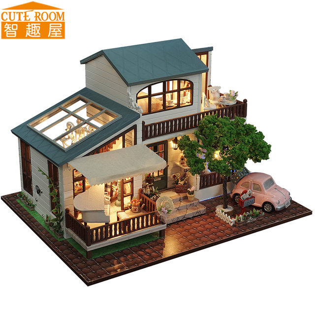cute room diy wooden house miniaturas with furniture diy miniature