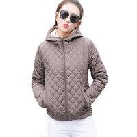 Autumn 2017 Parkas Basic Jackets Female Women Winter Plus Velvet Lamb Hooded Coats Cotton Down Winter