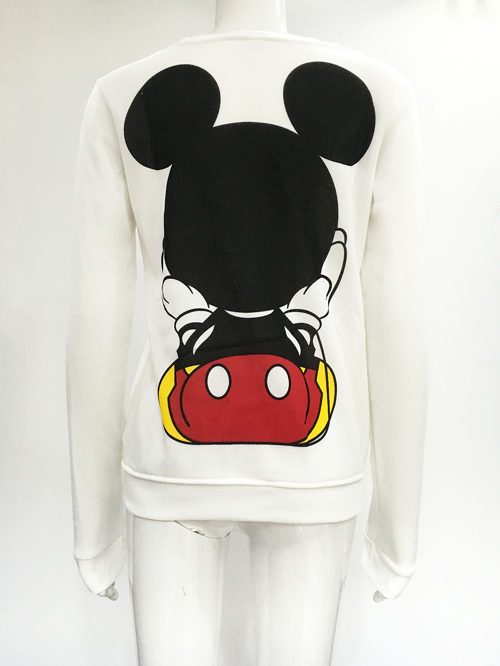 Ženska odeća ... Duksevi ... 32794724519 ... 5 ... 2016 Fashion New European Mickey printing Sweatshirt Hoodies Long Sleeve  loose women Crewneck  size S-XL Hot sale 2016 ...