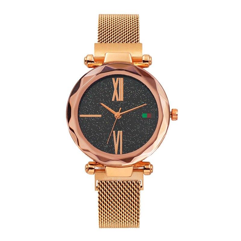 2019 New Fashion Diamond Magnet Women Watch Wears a starry Sky Wristwatches Luxury Girls