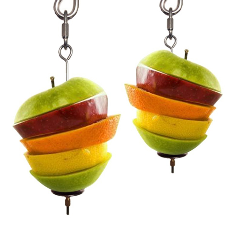 1pcs New Stainless Steel Parrot Toy Meat Food Holder Durable Bird's Cage Accessories Stick Fruit Skewer Bird Treating Tools