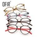 Nuevas Gafas de Diseño Retro de Las Mujeres Pequeñas y Redondas Gafas Ópticas Marco Lente Transparente Gafas de Ordenador oculos de grau PC-39