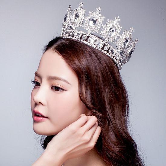 big European royal crown golden rhinestone imitation ruby tiara super large quinceanera crown wedding hair accessories crown (1)01