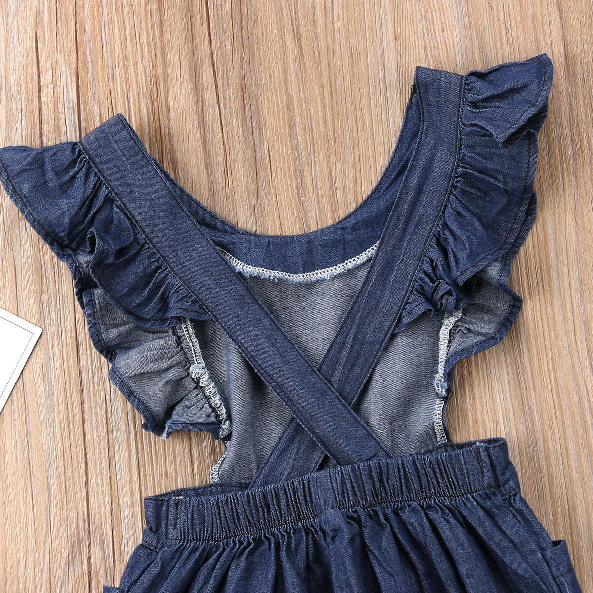 3ae2863d6533 ... Fashion Summer Cute Kids Baby Girls Denim One Piece Loose Overalls  Casual Cross Jumpsuit Romper Outfits ...