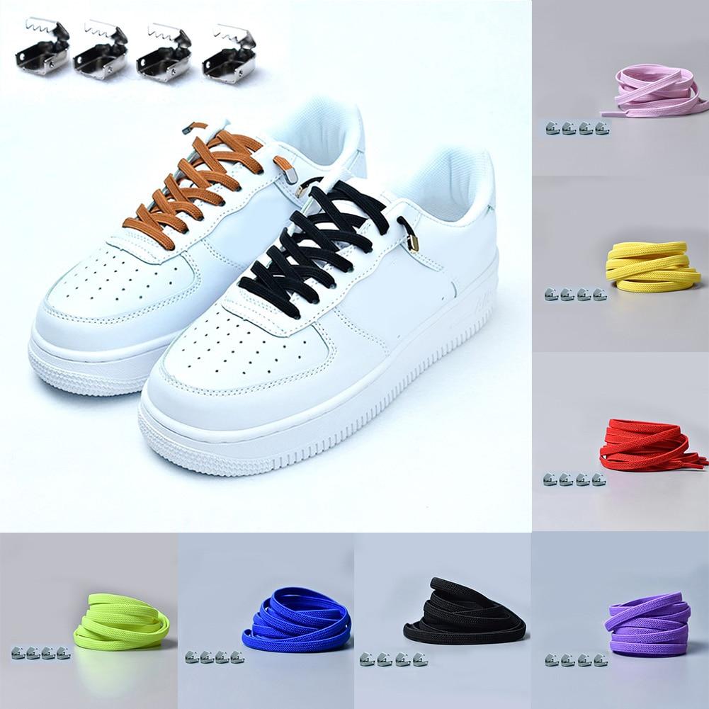 Easy Lazy No Tie Elastic System Lock Shoe Laces Shoelaces Unisex Adults /& Kids