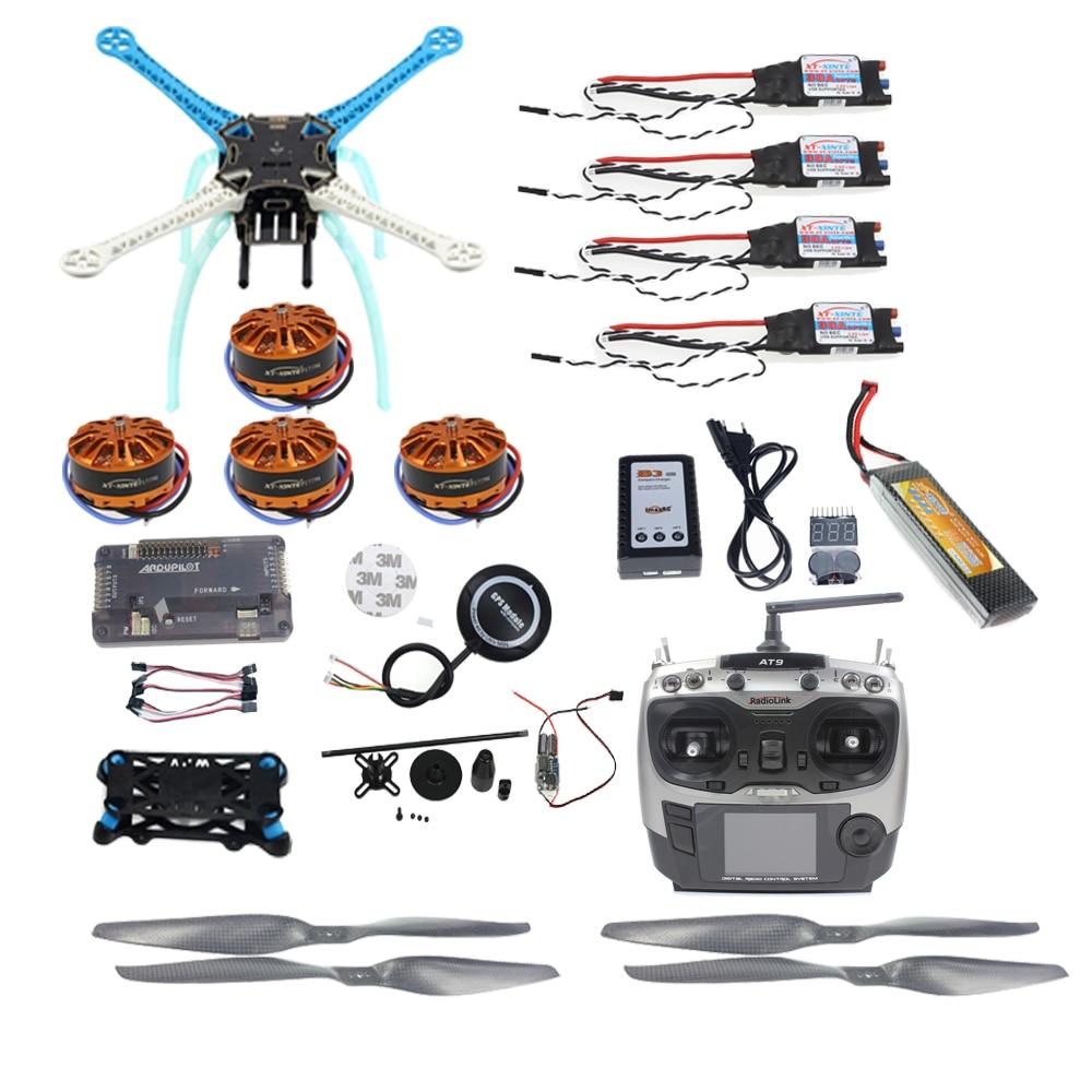 JMT Full Kit DIY GPS Drone APM2.8 500mm Multi-Rotor with 700KV Motor 30A ESC 9CH Transmitter 11.1V 4400MAH Battery jmt diy drone f550 multi rotor full kit 1045 3 props 6 axle rc multi hexac