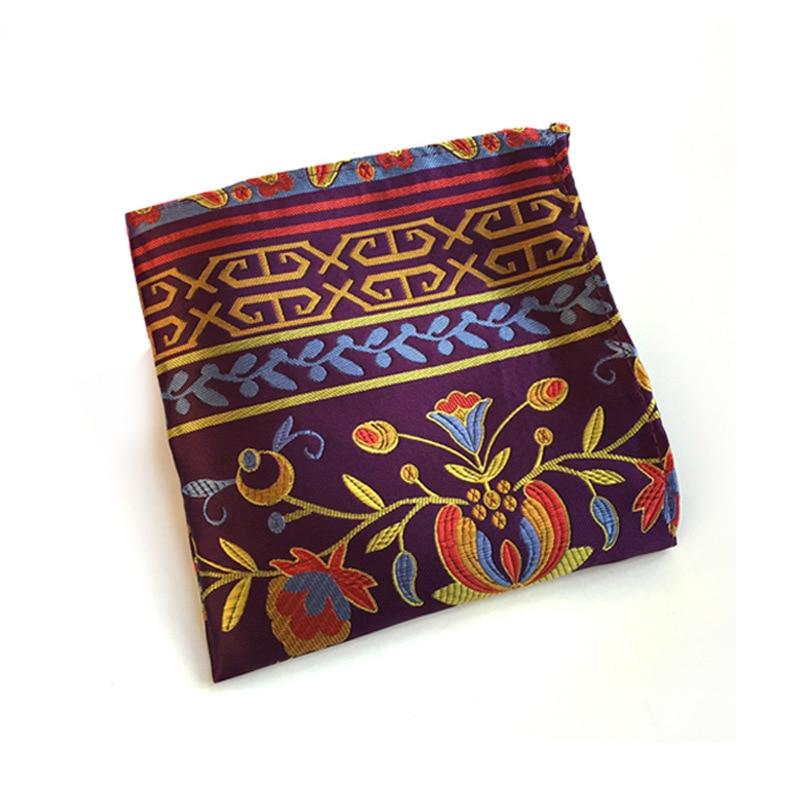 New 23 Colors Handkerchiefs Woven Paisly Cashew Nuts Hanky Men's Business Casual Square Pockets Handkerchief Wedding Hankies