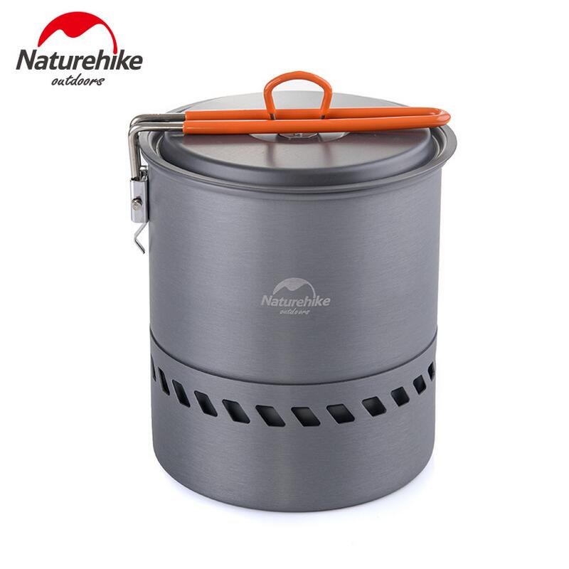 Naturehike camping picnic cooking pot set of dishes stainless steel outdoor pots cookware tableware