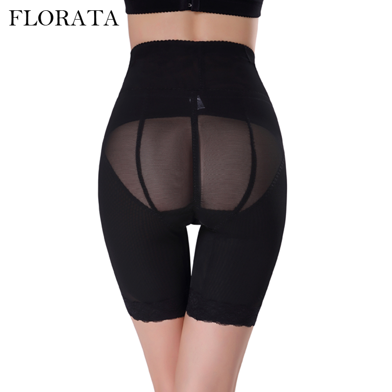 62fce8a6f5 FLORATA Body Shapers Women Shapewear High Waist Trainer Tummy Control  Slimming Brief Shorts Pant Bodysuit Waist Shaper-in Bodysuits from Underwear  ...