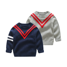 Vinntido Boys Sweater Pullover kids Cotton Kids Jersey Knitted Children Clothes