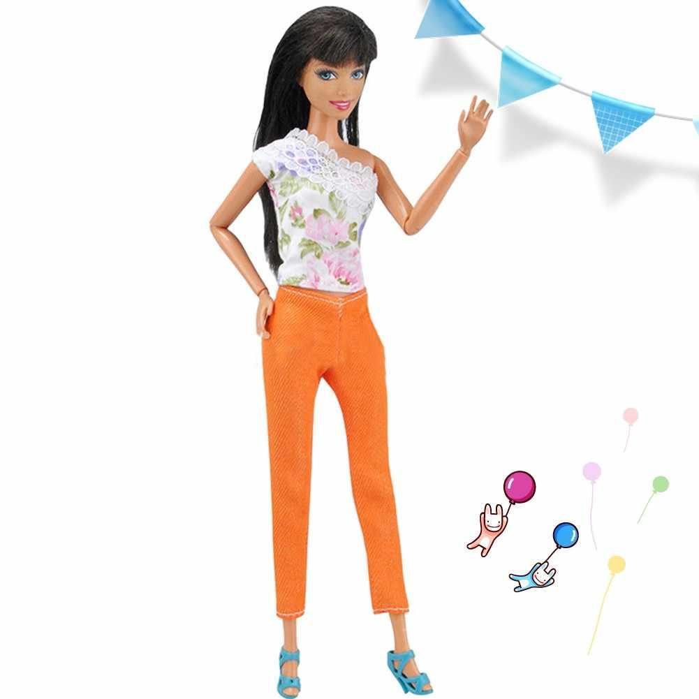 LeadingStar кукольная одежда 5 комплектов футболок и штанов Модная Повседневная Одежда для кукол