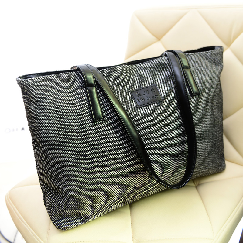 Women Canvas Shopper Shoulder Bag Girls Striped Beach Bags Large Capacity Tote Ladies Casual Shopping Handbag Bolsa Hot sale rivet bag for women casual large capacity tote handbag horizontal vertical type useful shopping bag necessity sac bolsas new2015