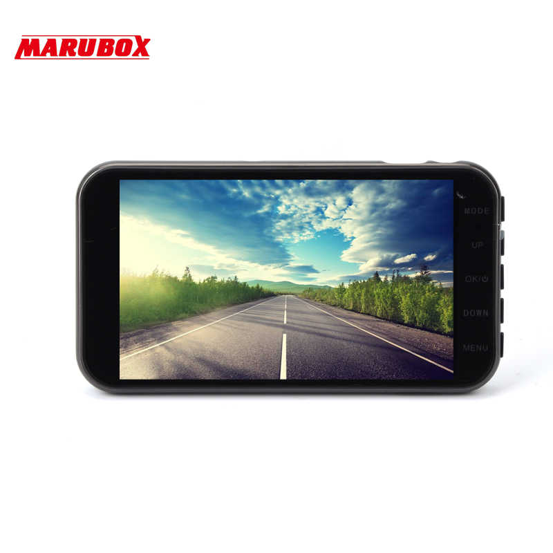 MARUBOX M260IPS Автомобильный видеорегистратор, видеорегистратор Full HD 1920x1080, двойной объектив, видеорегистратор с камерой заднего вида для автомобиля, записывающий видео регистратор