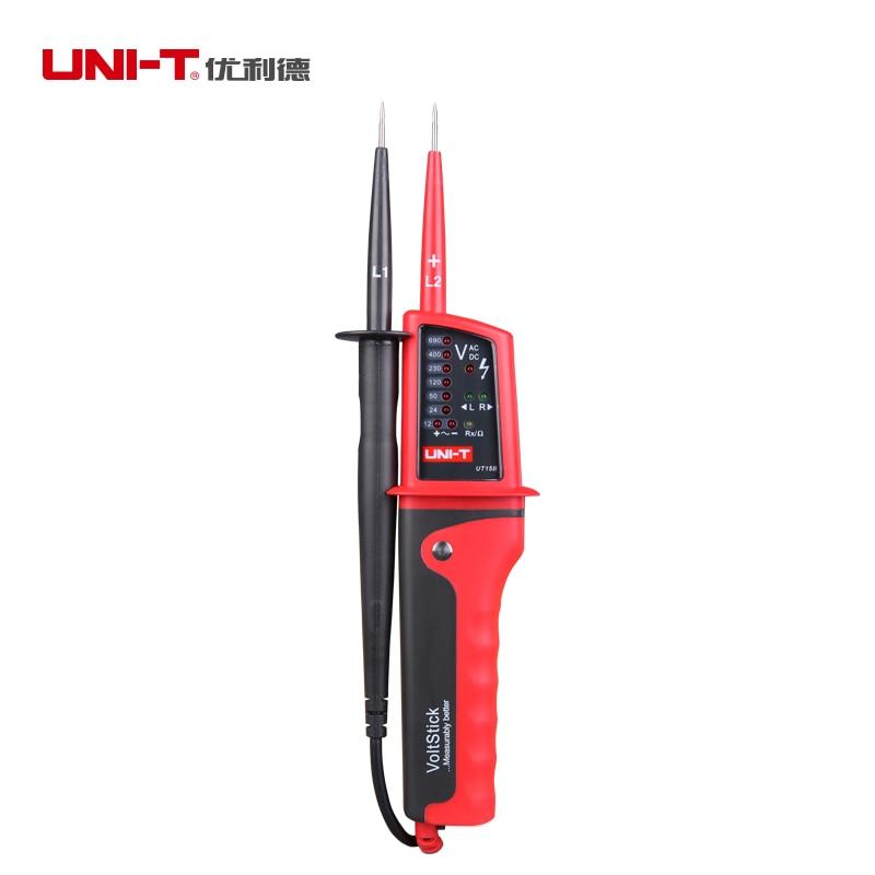 UNI-T UT15C UT15B многофункциональные детекторы напряжения водонепроницаемые IP65 ЖК-дисплей Цифровой Вольтметр AC DC Вольт тестирование ручка