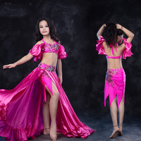 Kids Girls Belly Dance Costumes Sexy Clothes Indian Oriental Dance Costumes Long Skirt Children's Performance Clothes DN1610