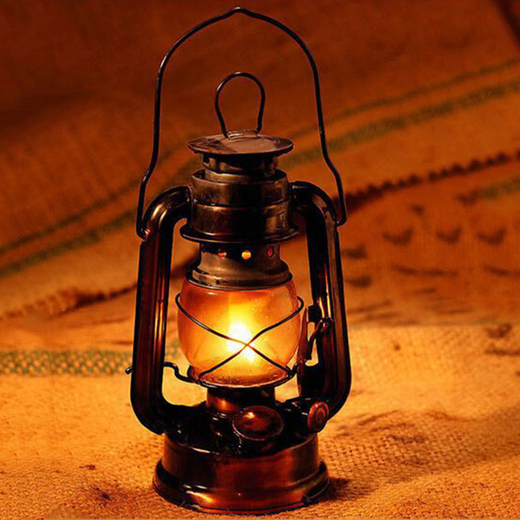 Diy Kerosene Lamp Portable Lanterns Kerosene Lamp Metal Iron Camping Kerosene Lamp